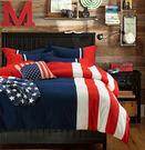 美國隊長 貼布繡 單人三件式鋪棉兩用被床...