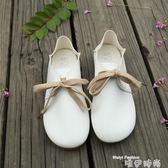 娃娃鞋春秋新款森系圓頭小白鞋平底兩穿娃娃鞋休閒文藝版學生鞋女單鞋潮 時尚新品