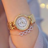 新款熱銷手錶 高檔鏈錶滿鑽銀色水鑽女錶《小師妹》yw111