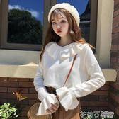 韓版寬鬆甜美娃娃領網紅毛衣學生長袖慵懶風套頭針織衫上衣女 茱莉亞嚴選