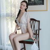 情趣內衣性感小胸蕾絲連體睡衣透視