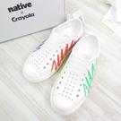 Native JEFFESON PRINT Crayola聯名款 中童鞋 151001011972【iSport愛運動】