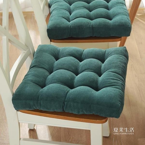 坐墊 防滑棉花坐墊椅墊學生加厚榻榻米屁股墊教室方形凳子坐墊布藝毛絨『快速出貨YTL』