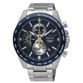 【分期0利率】SEIKO 精工錶  三眼計時賽車錶 藍面 43mm 全新原廠公司貨 SSB259P1