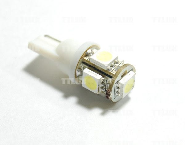 TTLUX T10 5 SMD 360度 小炸彈 LED 5晶 晶片 360照射 5面 狼牙棒 3D (另有24V)