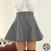 短裙 2018春裝新款 半身裙百褶裙女蓬蓬裙傘裙高腰打底短裙包裙子·黑色地帶