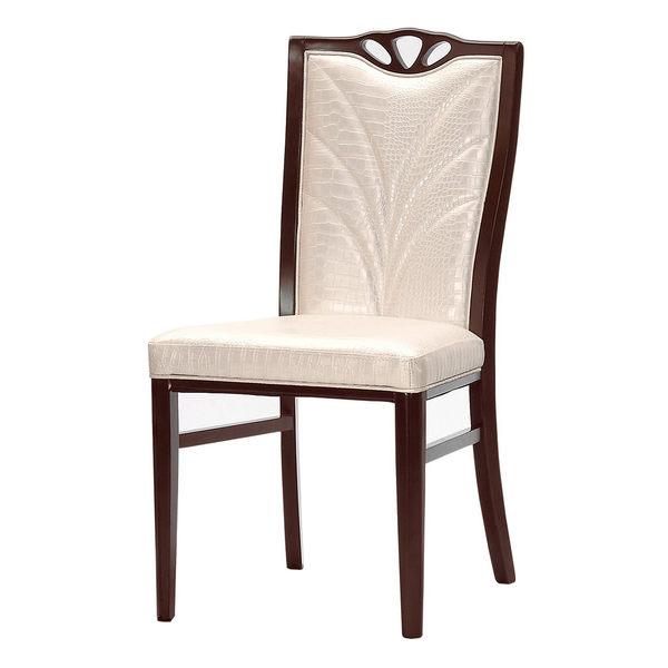 【森可家居】莎莉餐椅(皮)(實木) 7CM514-13