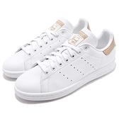 adidas 休閒鞋 Stan Smith 白 卡其 皮革 基本款 後跟蛇紋壓紋設計 男鞋 女鞋 運動鞋【ACS】 B41476