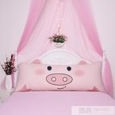 雙人枕頭可愛長款網紅情侶枕一體卡通韓式1.5m1.8m床帶枕套加枕芯 韓慕精品 YTL