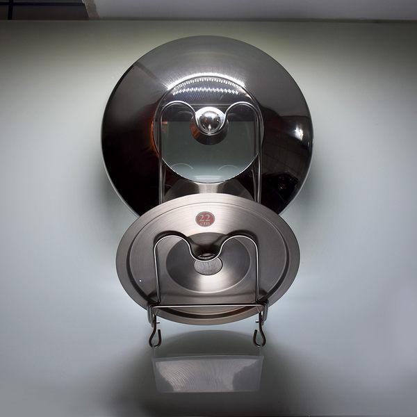 壁掛式鍋蓋放置架 304不鏽鋼 可重複貼 無痕掛勾 台灣製造 貼恆玖