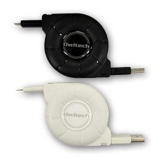{廣三創意電子}【日本owltech-kuboq】Apple Lightning cable捲線 1.8m MFI 認證 喔!看呢來