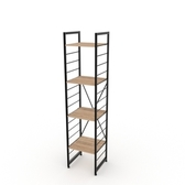 (組)特力屋萊特四層架黑框/淺木紋-40x40x188cm