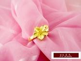 9999純金 黃金金飾  幸福珍藏 繽紛花耀  黃金戒指