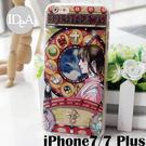 吉卜力 iPhone7/7 Plus宮崎駿浮雕TPU包邊手機保護套 軟邊+PC硬背殼 卡通人物 龍貓 波妞 霍爾 魔女