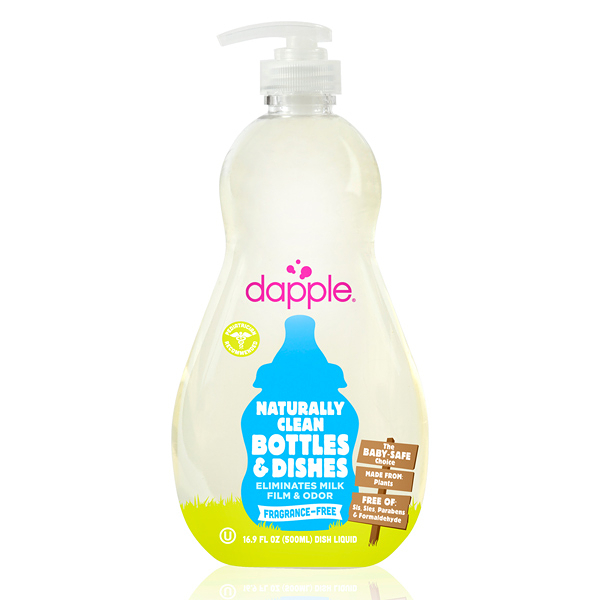 dapple奶瓶及餐具清潔液-無香精500ML【屈臣氏】