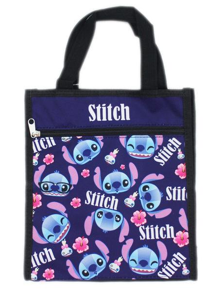 【卡漫城】 Stitch 手提袋 深藍 滿版 ㊣版 星際寶貝 史迪奇 餐袋 便當袋 手提包 防水 才藝袋 肩背包