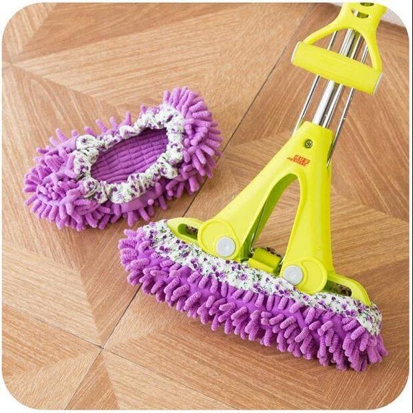 【TT】雪尼爾可拆洗懶人擦地拖鞋掃地擦地板鞋子拖地拖把清潔鞋套
