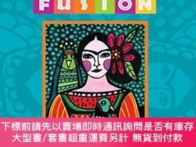 二手書博民逛書店Folk罕見Art Fusion: Creative ideas for painting colorful fo