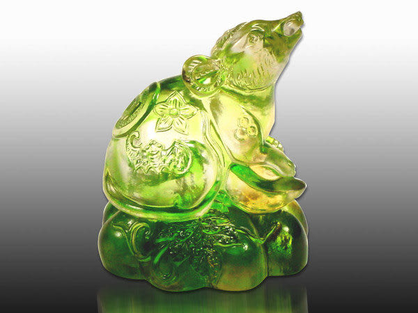 鹿港窯-居家開運商品-琉璃S十二生肖文鎮-豬-附精美包裝◆免運費送到家
