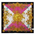 VERSACE古典太陽圖騰純棉手帕領巾(黑色)989017-13