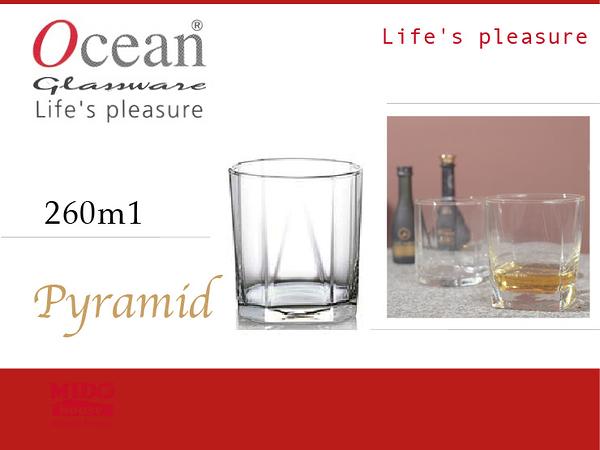 Ocean B2309 Pyramid 金字塔威士忌杯-260ml《Mstore》