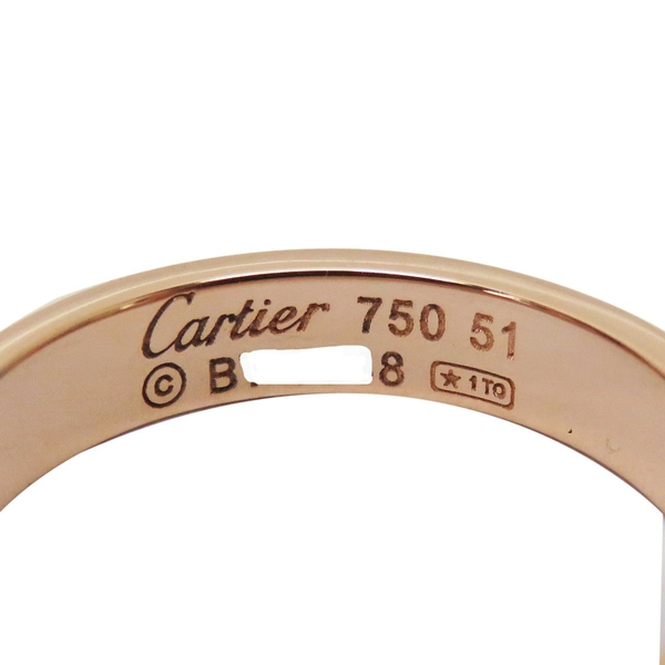 Cartier 卡地亞 LOVE系列18玫瑰K金戒指 #51 LOVE Wedding Ring【二手名牌BRAND OFF】