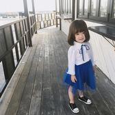 尾牙全館9折 藍小爸 2019秋裝新款兒童女童全棉襯衣寶寶韓版襯衫上衣潮
