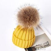 嬰兒帽子秋冬季一歲兒童帽子冬男女孩童毛線帽寶寶帽子冬加厚保暖 金曼麗莎