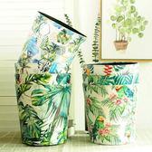 雙12盛宴 垃圾桶歐式創意無蓋家用客廳臥室衛生間廚房儲物