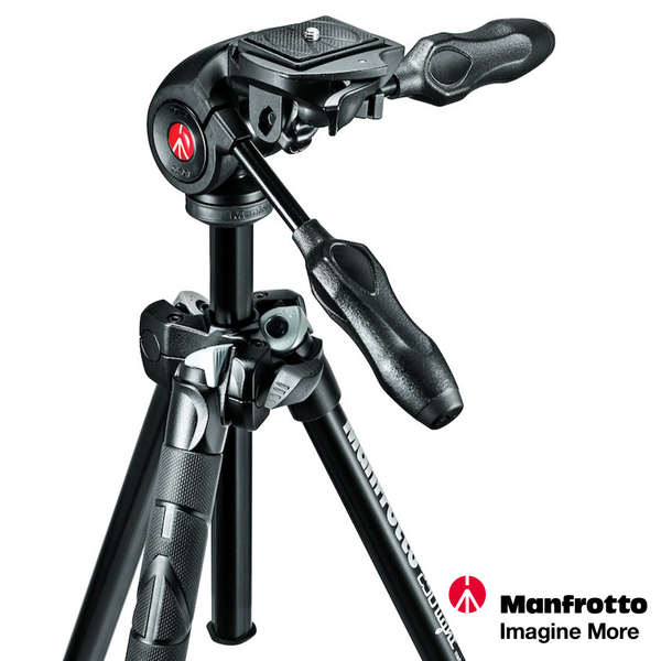 Manfrotto 290 LIGHT 送055代用皮套 輕巧三節腳架搭三向雲台套組 MK290LTA3-3W 正成公司貨
