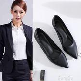 職業工作女鞋真皮方跟粗跟低中高跟細跟尖頭面試正裝小碼單鞋皮鞋   麥琪精品屋