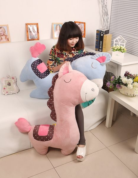 100CM可愛小馬造型抱枕 男朋友抱枕 情人節禮物 交換禮物 居家裝飾 (現+預)