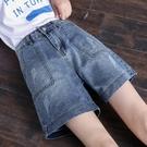 高腰闊腿牛仔短褲女夏薄款2020新款網紅中褲胯顯瘦寬鬆a字五分褲