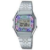 CASIO 方格典雅玫瑰電子錶-滿庭芳(LA-680WA-2C)