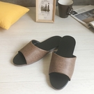 台灣製造-簡約系列-純色皮質室內拖鞋 - 爵士咖