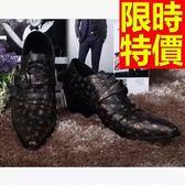 尖頭鞋 男真皮皮鞋-骷髏印花做舊時尚男休閒鞋子58w62[巴黎精品]