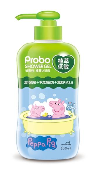 博寶兒植萃沐浴乳650ml-佩佩豬