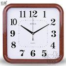 方形掛鐘客廳臥室鐘錶靜音簡約日歷時鐘大號...