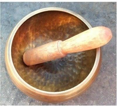 頌缽 西藏法器 手工黃銅8CM【藍星居家】