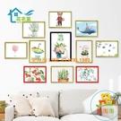 A4彩色a3畫框卡紙裝裱學校學生兒童作品紙相框簡易磁性貼墻【樂淘淘】