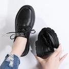 牛津鞋女女鞋新款潮小皮鞋秋原宿軟底防滑韓版工作面試職業單鞋 快速出貨