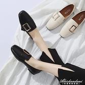 豆豆鞋女2020春季新款一腳蹬樂福鞋平底單鞋英倫風網紅時尚小皮鞋 黛尼時尚精品
