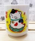 【震撼精品百貨】招財貓_招き猫~日本招財貓陶瓷杯/茶杯-黃#20100