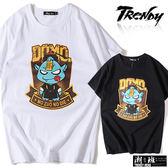 『潮段班』【SD035311】Q版殭屍人物英文印花設計短袖上衣T恤