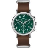 TIMEX 天美時 (TXT2P97400) 三眼計時 冷光 手錶/42mm