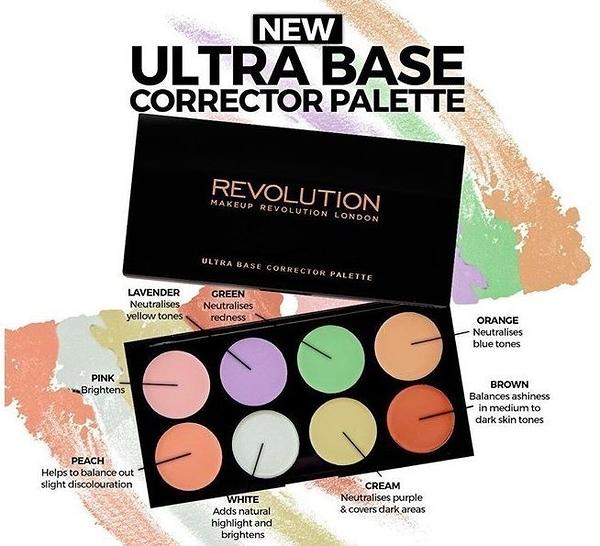 英國 Makeup Revolution 新款8色修容盤粉底膏遮瑕蓋斑修容膏調色盤