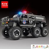 玩具車 仿真110玩具車大合金越野警車玩具汽車模型男孩兒童警察車救護車 童趣