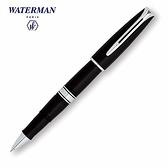 Waterman查裡斯登筆系黑桿白夾鋼珠筆