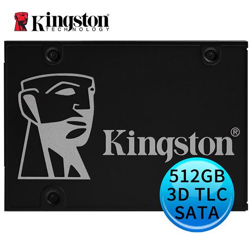Kingston 金士頓 KC600 512GB 3D TLC 硬體型自我加密 SSD 固態硬碟 SKC600/512G