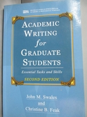 【書寶二手書T5/進修考試_WFW】Academic writing for graduate students_Swa